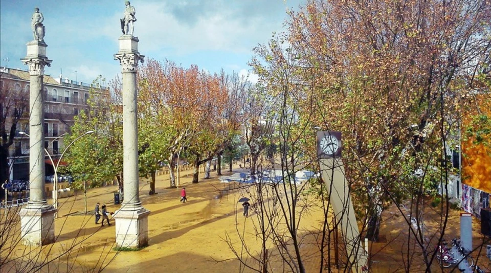 columns of Hercules in Seville's Alameda neighborhood