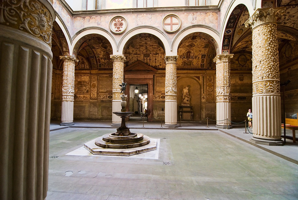 courtyard of the Palazzo Vecchio