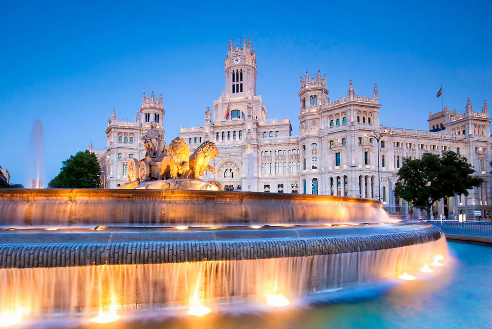 Palacio de Cibeles in Madrid Spain