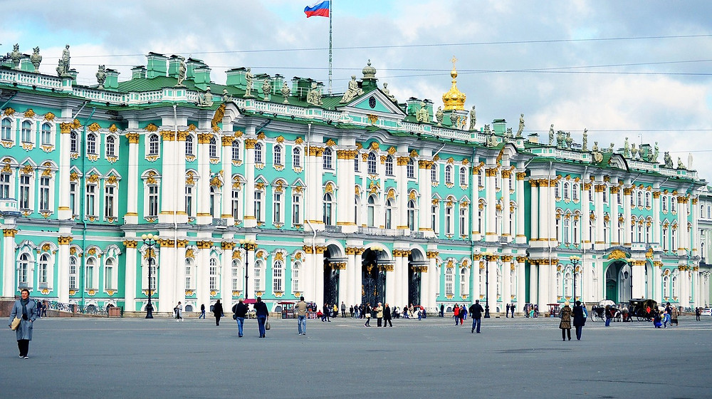 the Winter Palace in St. Petersburg Russia
