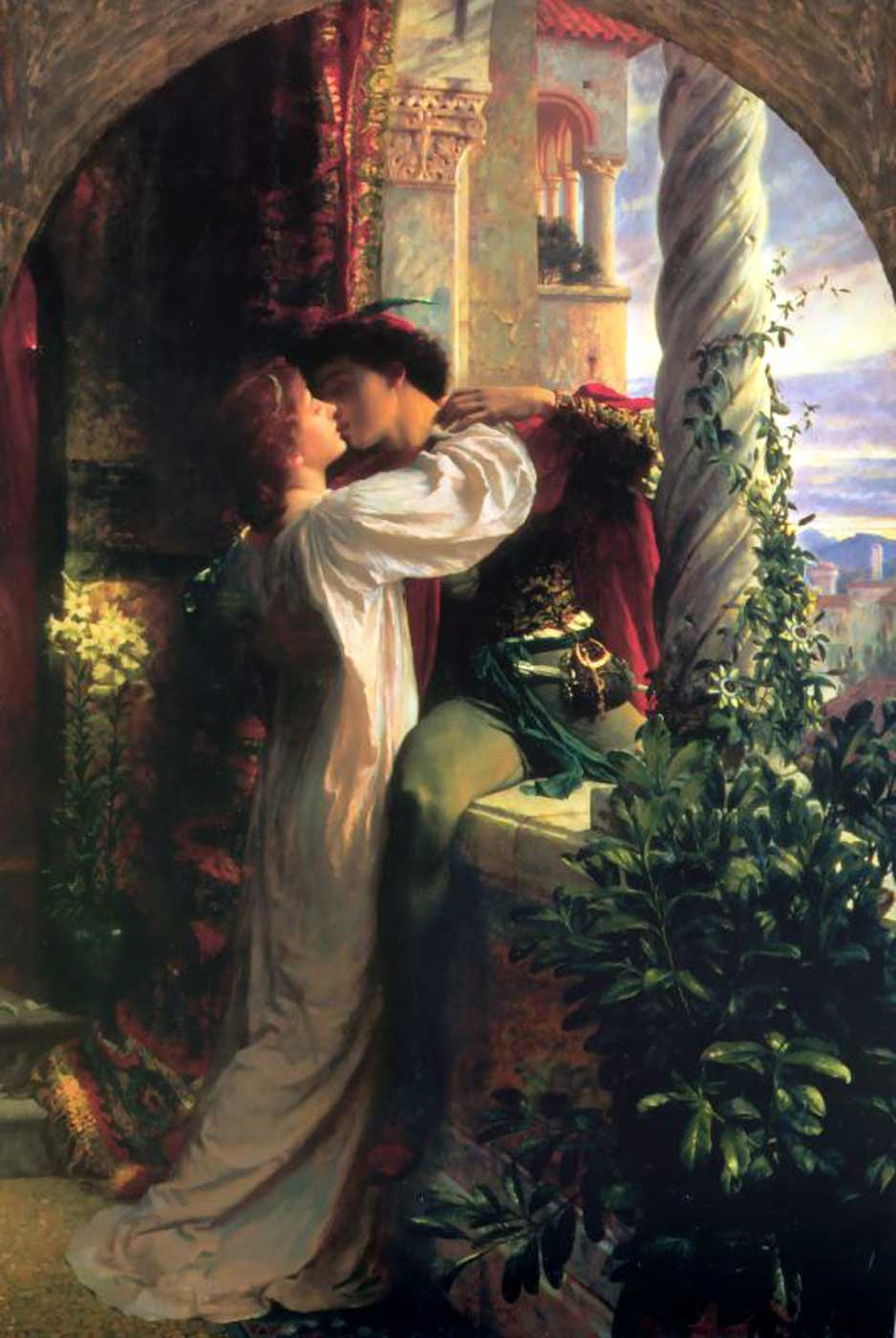 1884 painting of Romeo and Juliet by Frank Bernard Dicksee.
