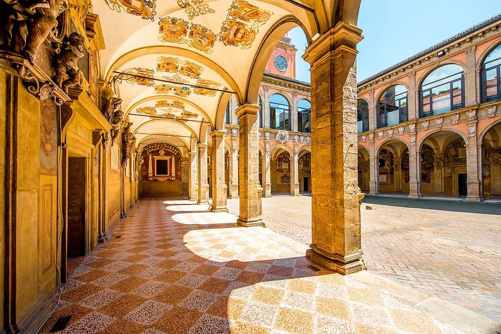 beautiful porticos in Bologna