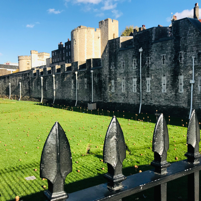 the moat at the Tower of London