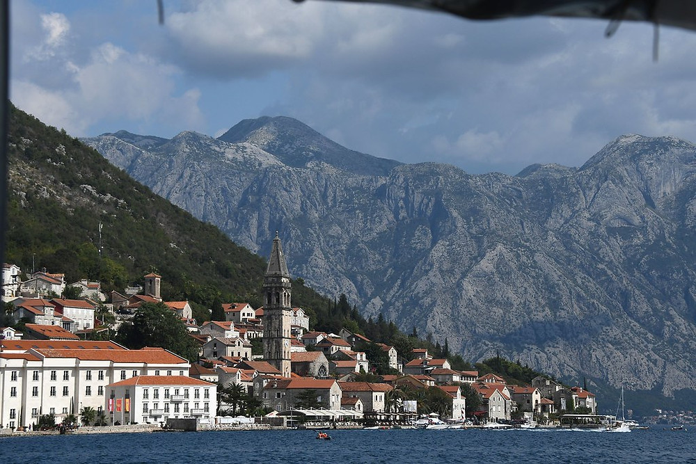 tiny Perast Montenegro on the Bay of Kotor