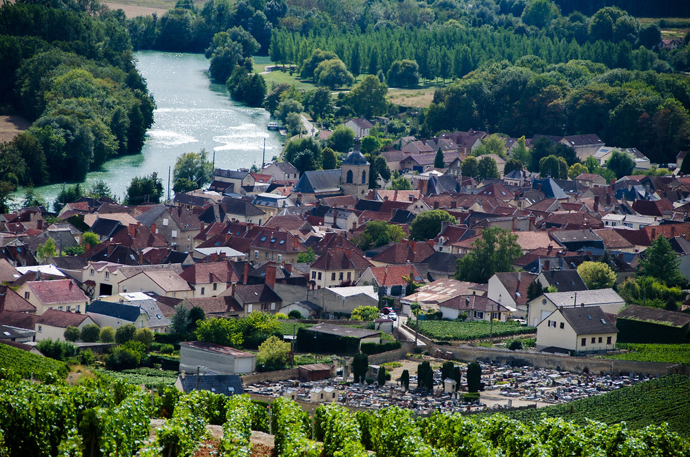 Epernay on the Marne River in France's Cghampagne region