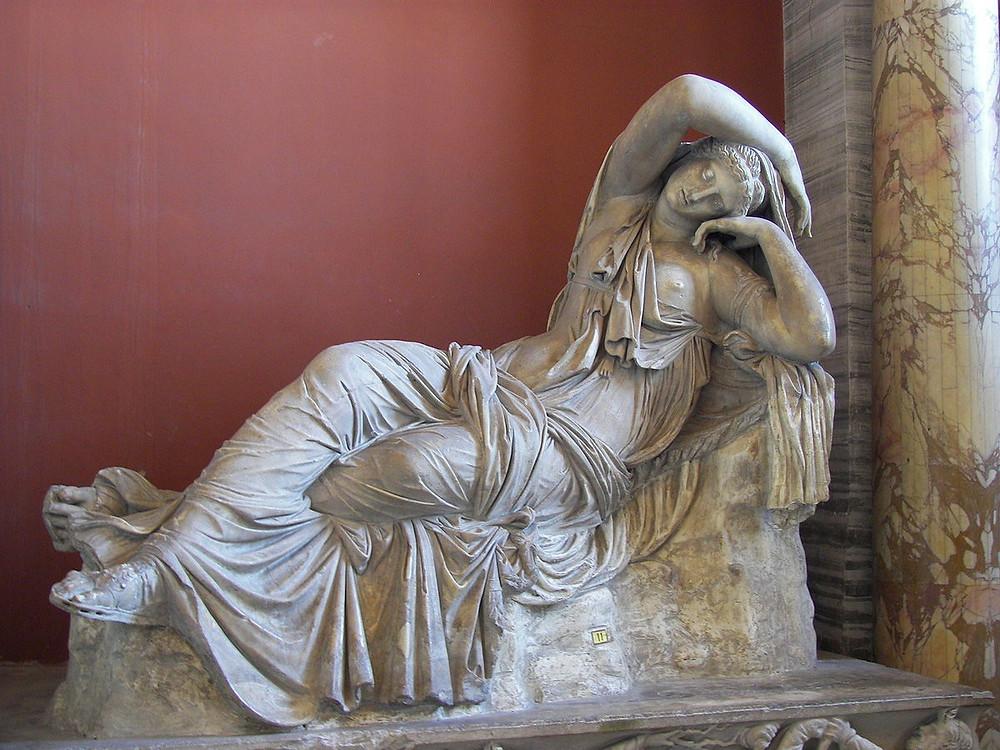 Sleeping Ariadne, 2nd century AD, in the Vasari Auditorium of the Uffizi