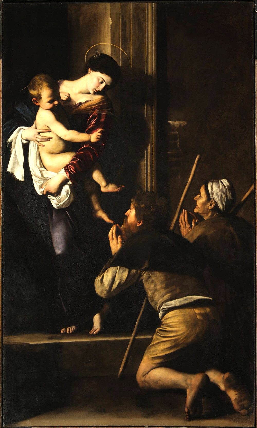 Caravaggio, Madonna di Loreto - Pilgrim's Madonna,1604-1606