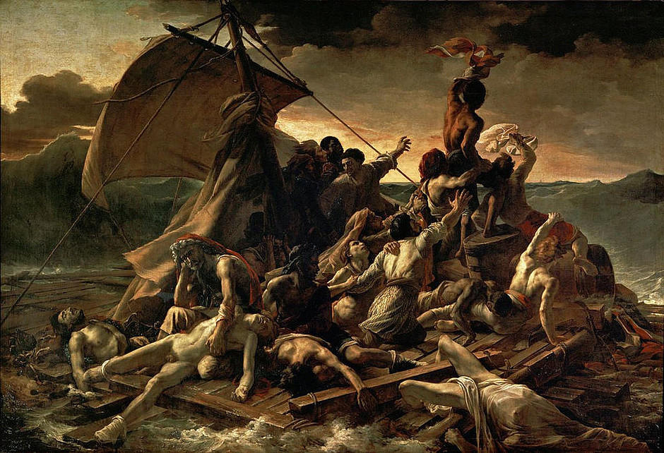 Théodore Gericault, Raft of the Medusa, 1819 -- the best painting at the Louvre