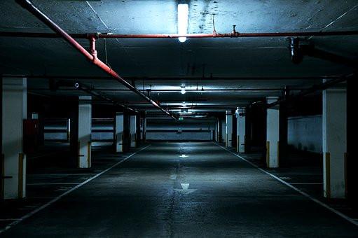 a dark European garage, one much roomier than mine