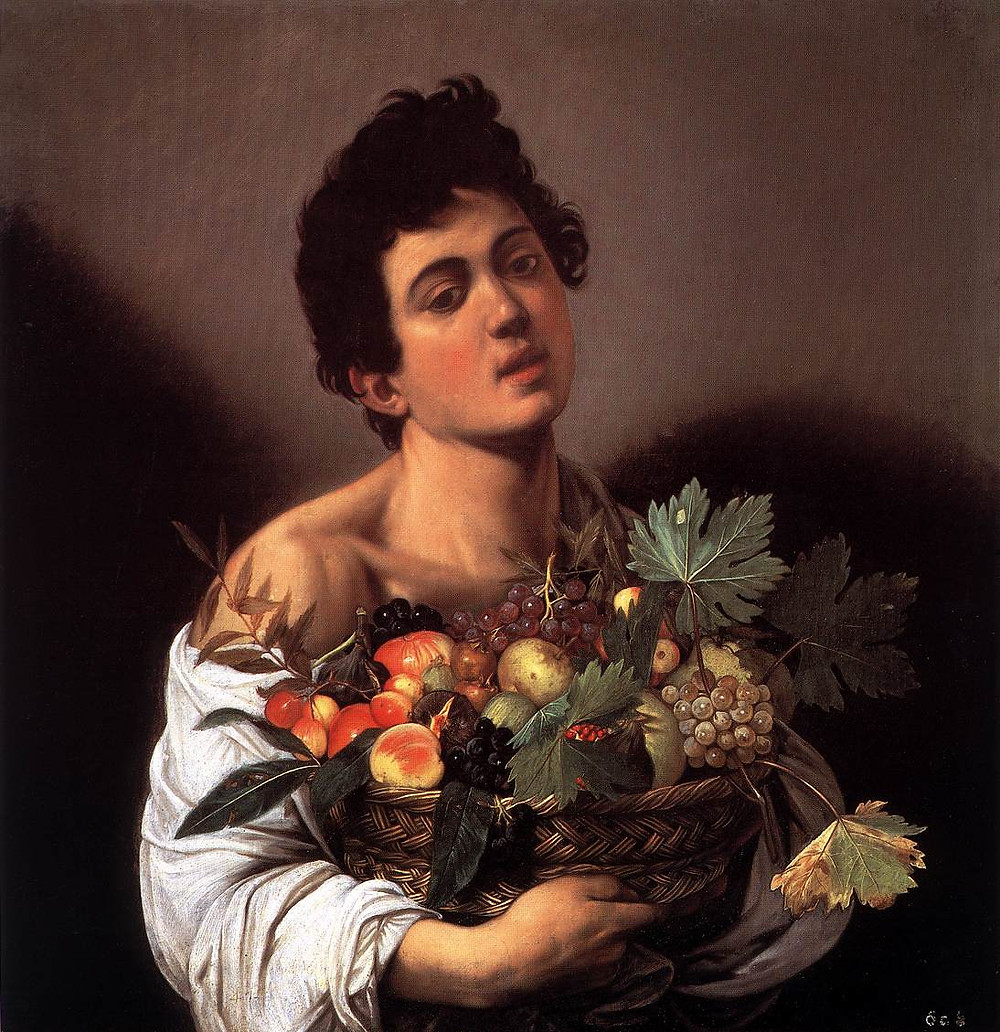 Caravaggio, Boy With a Basket of Fruit, 1593