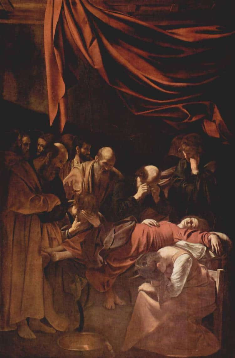 Caravaggio, Death of the Virgin, 1604-1606 (in the Louvre)