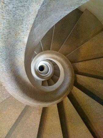 spiraling stairway of the Nativity Tower