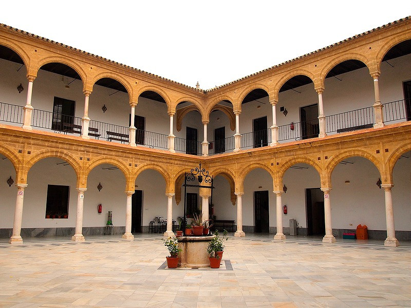 interior arcaded Renaissance patio of the University of Osuna