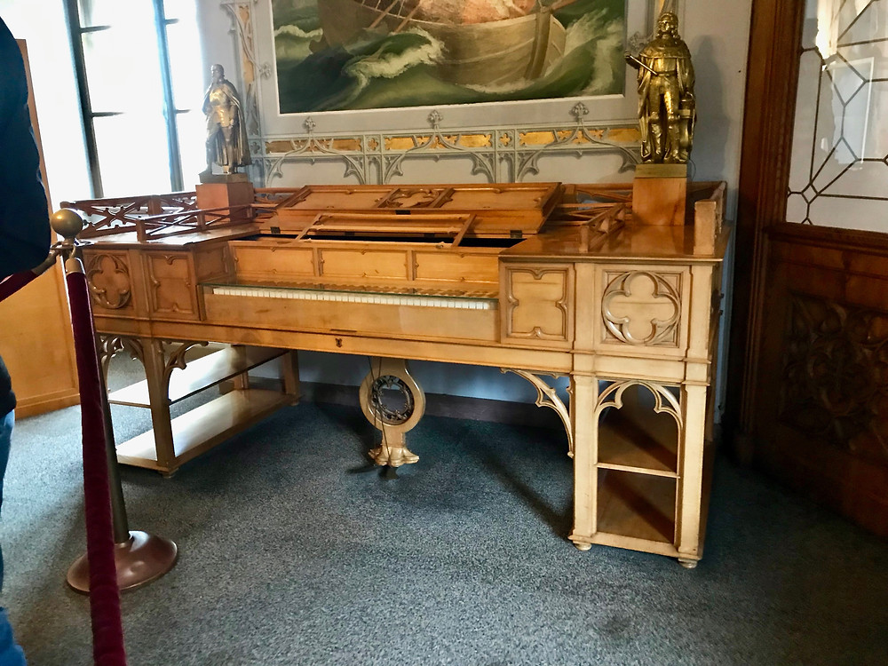 the piano that Wagner played for Ludwig and his family