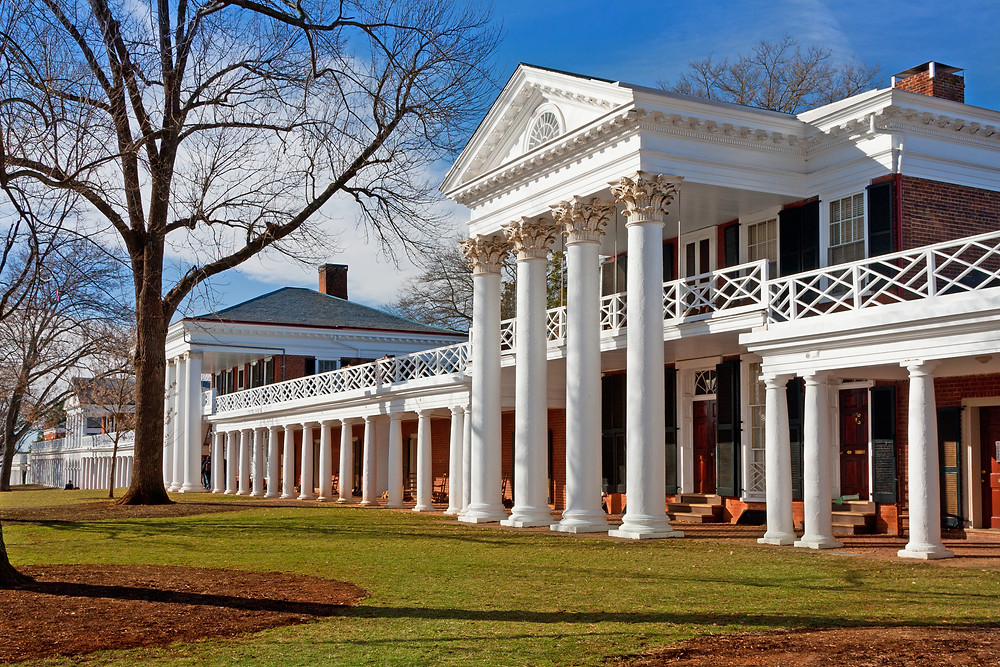 Academical Village at the University of Virginia, Charlottesville