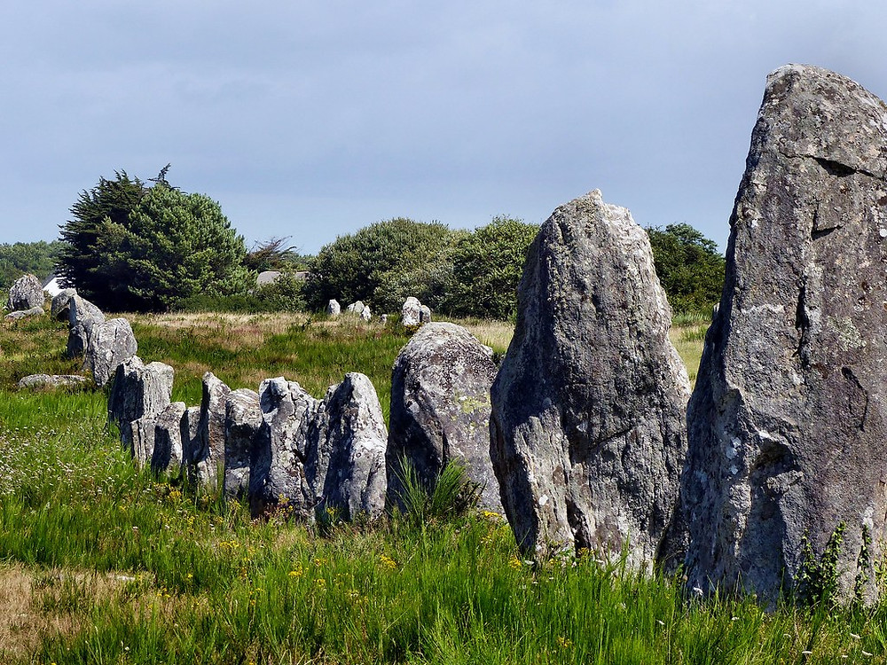 Neolithic stones in Carnac in Brittany France