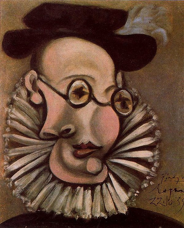 Pablo Picasso, Royan, 1939 -- portrait of Picasso's friend and assistant Jaime Sabartes