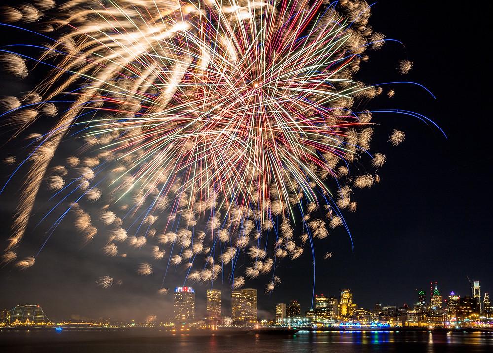 fireworks at Penn's Landing