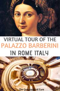 virtual tour of the Palazzo Barberini in Rome Italy