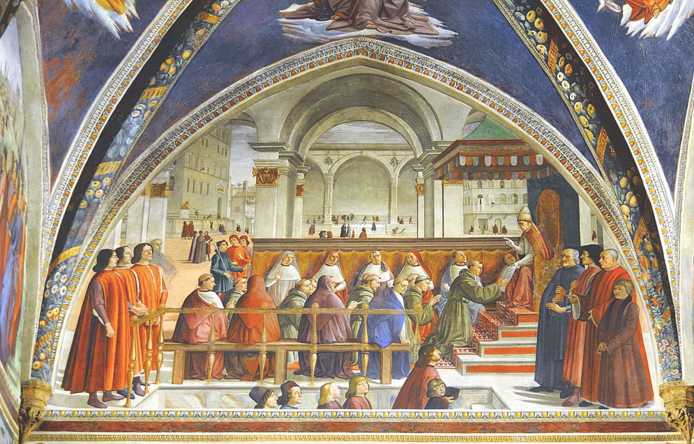 Ghirlandaio's Francis Receiving the Order from Pope Honorius, 1433-36