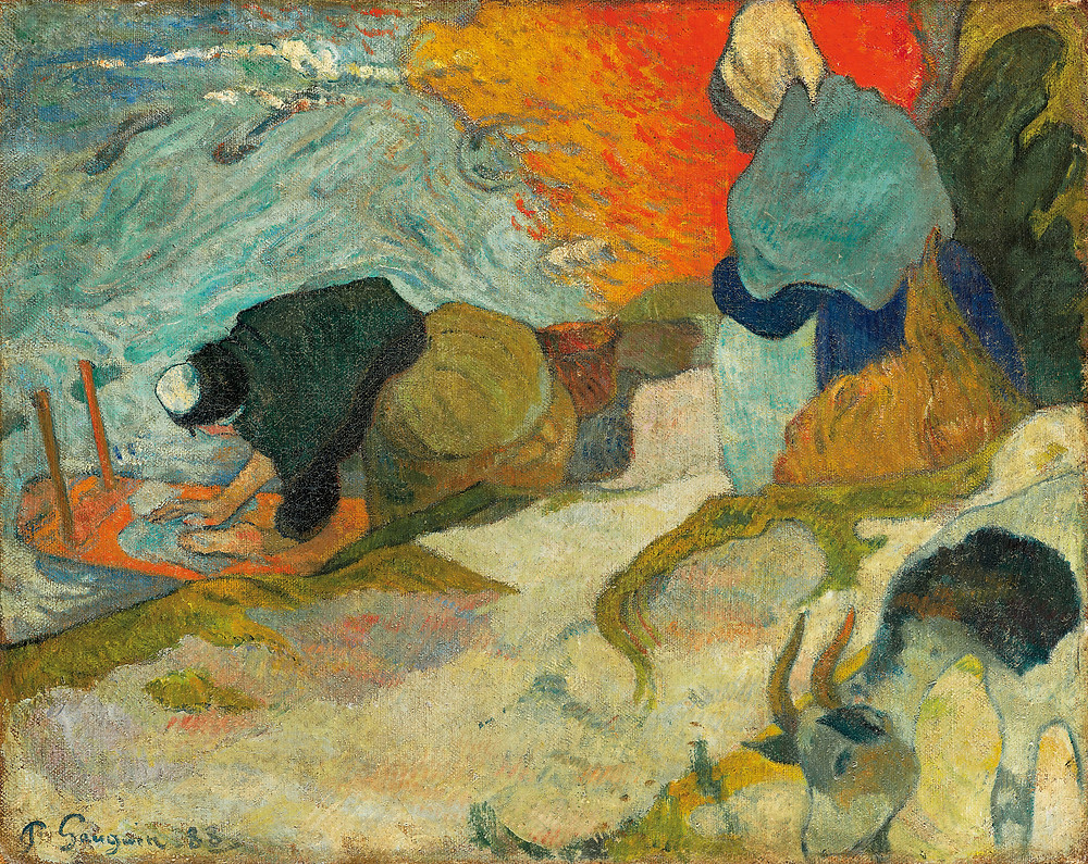 Paul Gauguin, Washerwomen in Arles, 1888