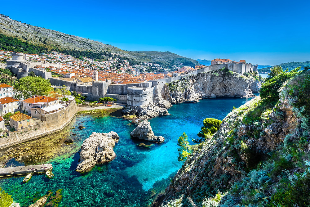 the stunning walled city of Dubrovnik in Croatia