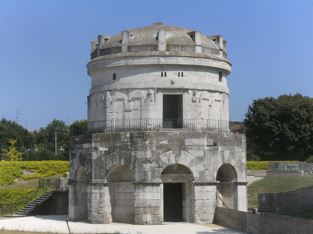 the Mausoleum of Theodoric just outside Ravenna