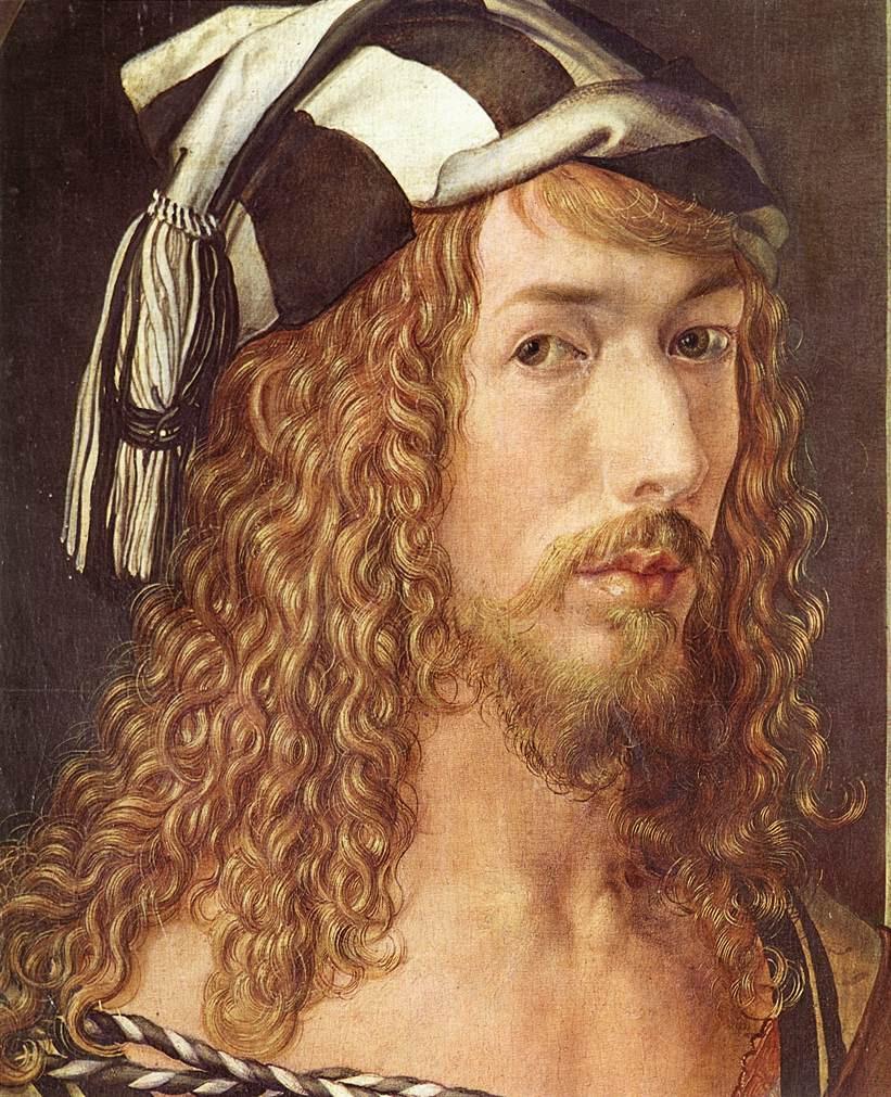 detail of Albrecht Dürer, Self Portrait, 1498