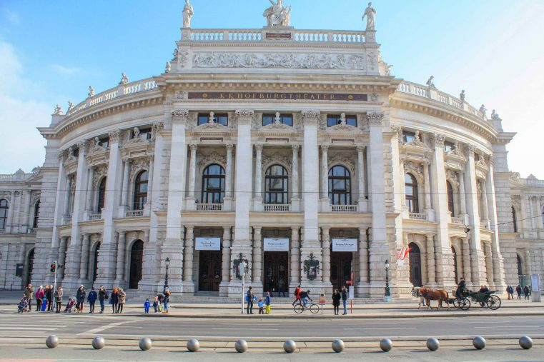 the Burgtheater, on the Ringstrasse