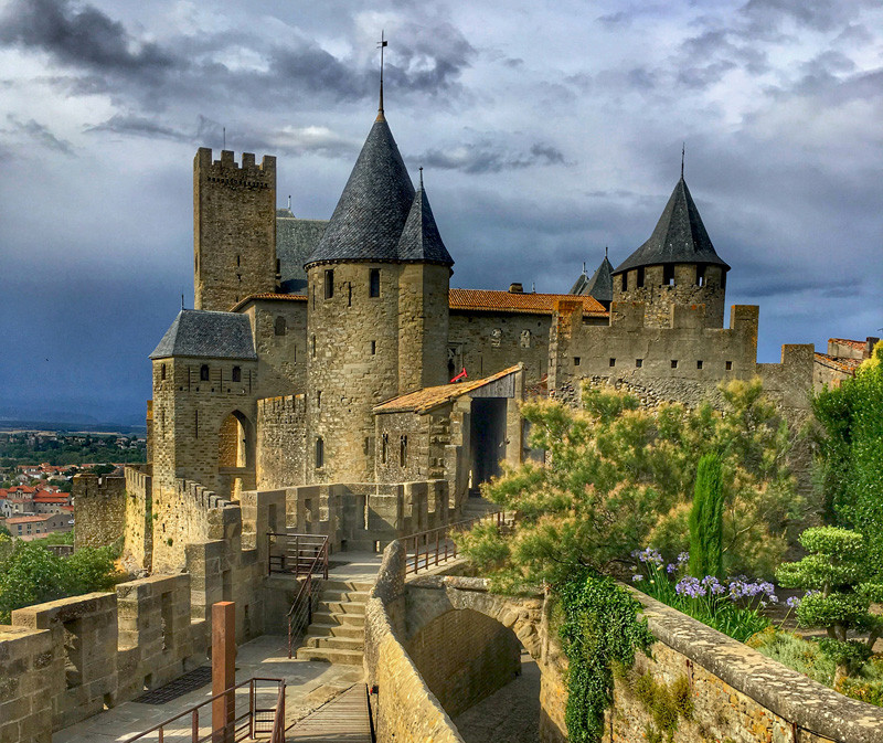 the double walled medieval city of Carcassonne
