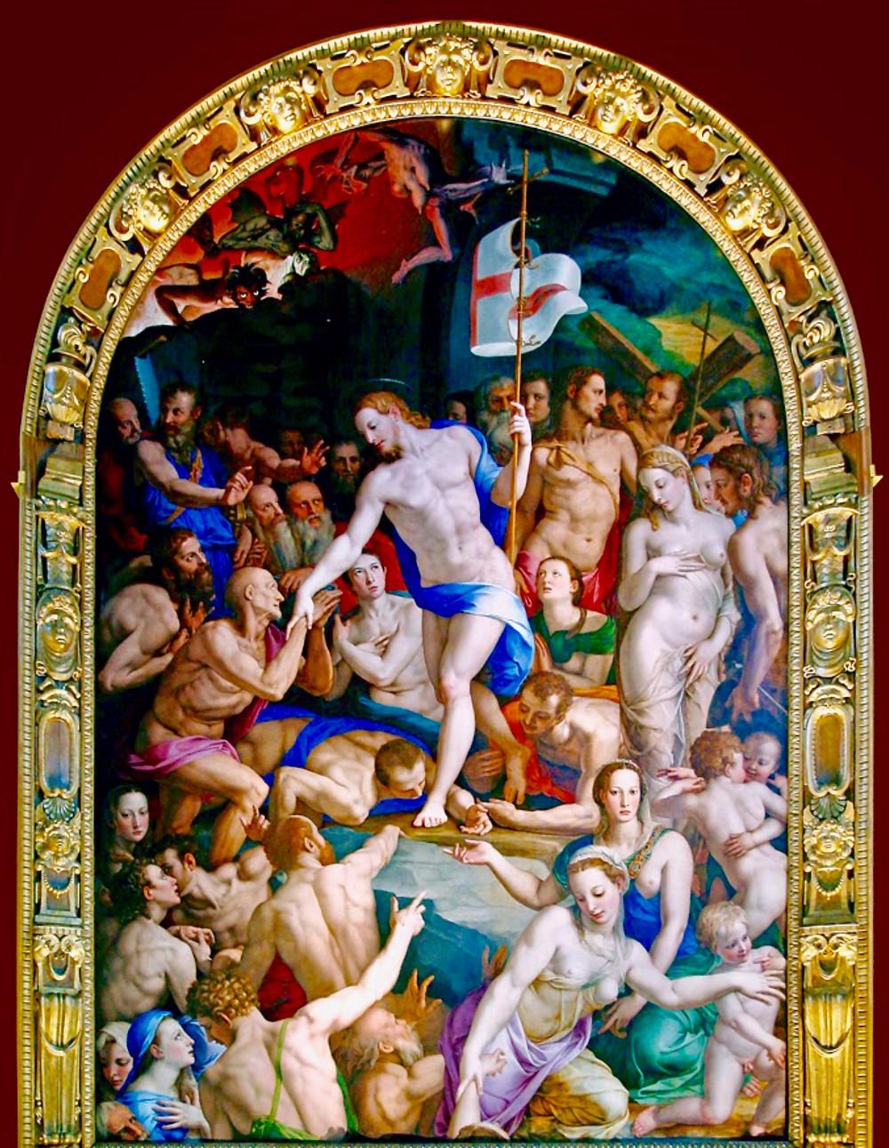 Angelo Bronzino, detail Christ's Descent into Limbo, 1552