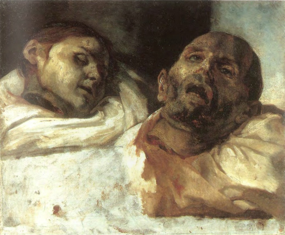 Théodore Géricault, Severed Heads, 1818 -- a morgue based preparatory painting for Raft of the Medusa