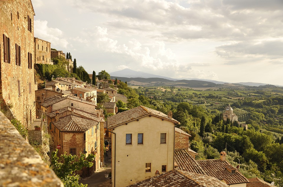 the beautiful town of Montepulciano