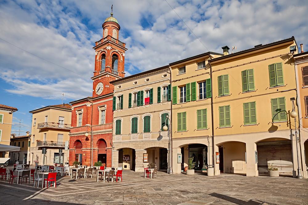 Dante Square in Ravenna Italy