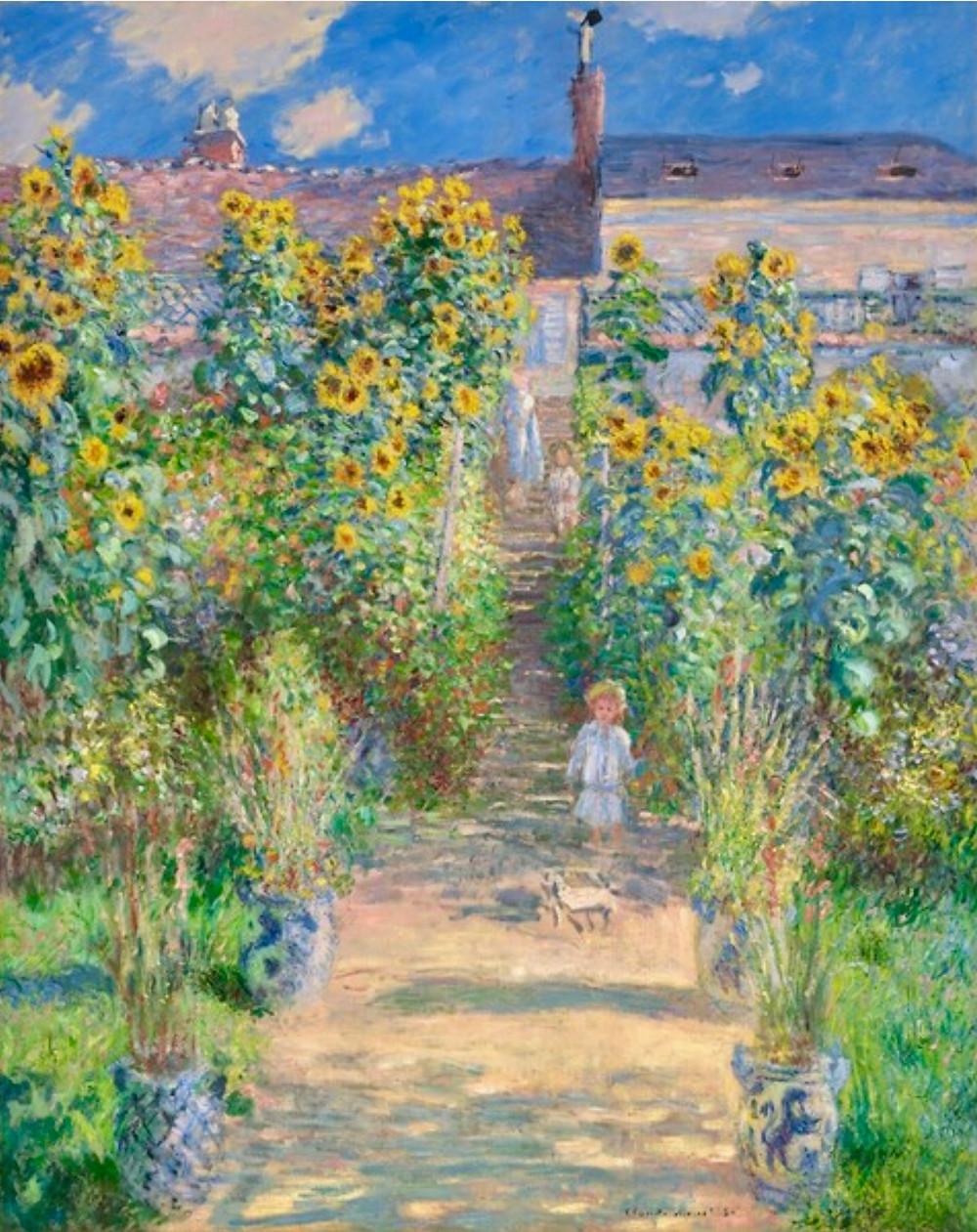 Monet, The Artist's Garden at Vetheuil, 1881