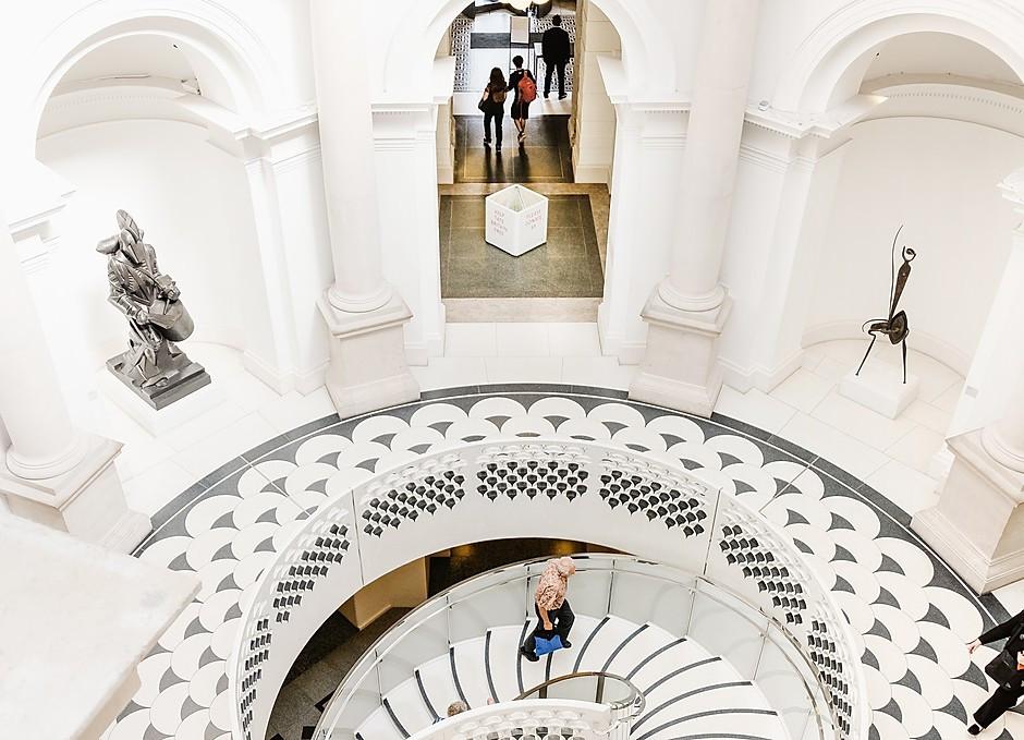 atrium of the beautiful Tate Britain in London