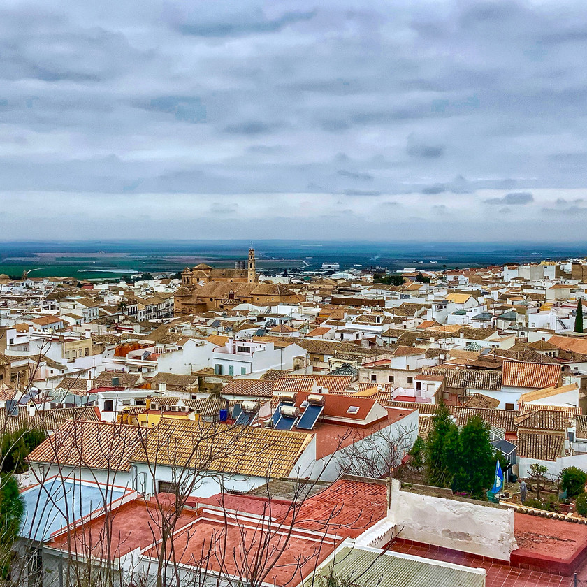 views from the College Church in Osuna Spain