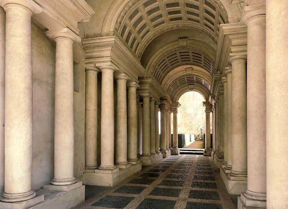 the Perspective Gallery at Palazzo Spada
