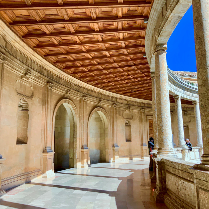 the Renaissance Palace of Charles V in the Alhambra