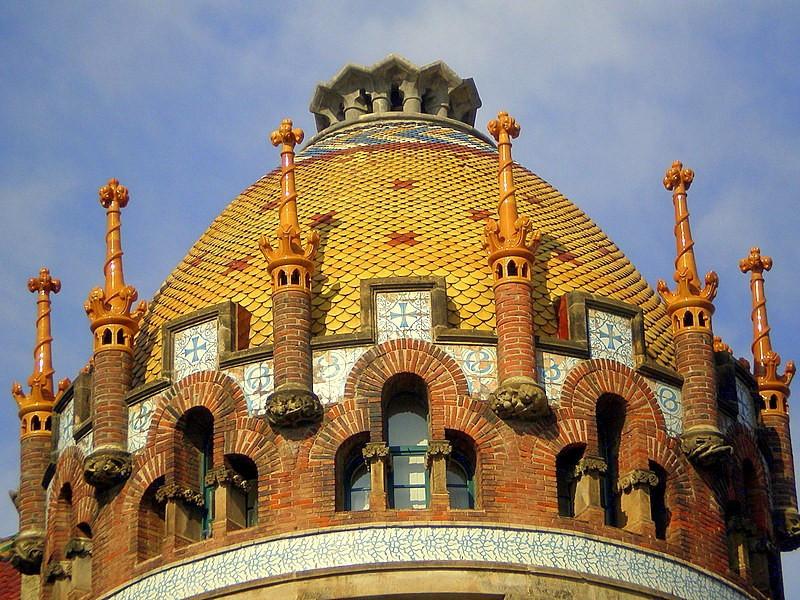 the tiled dome of the Hospital de Sant Pau