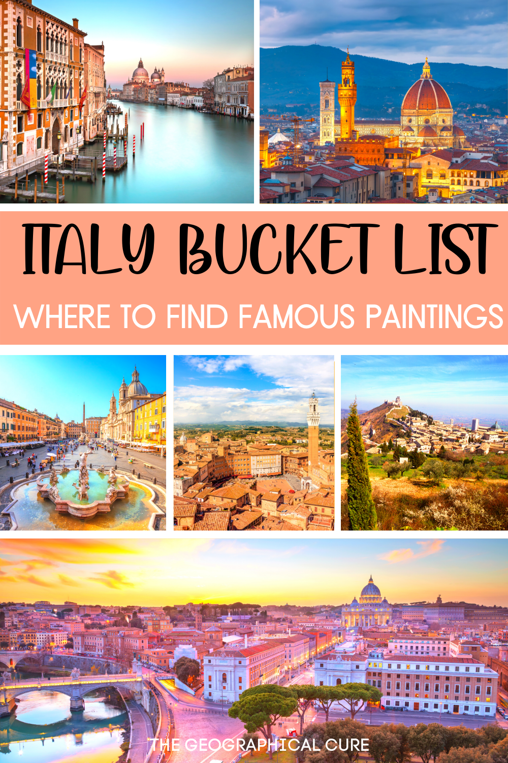 Italy Art Bucket List, where to find the best art in Italy