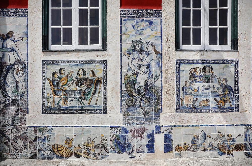 azulejo facade of the Palácio dos Marqueses da Fronteira,