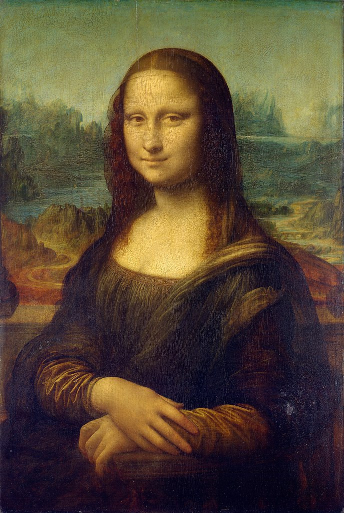 Leonardo da Vinci, Mona Lisa, 1503 -- in the Louvre