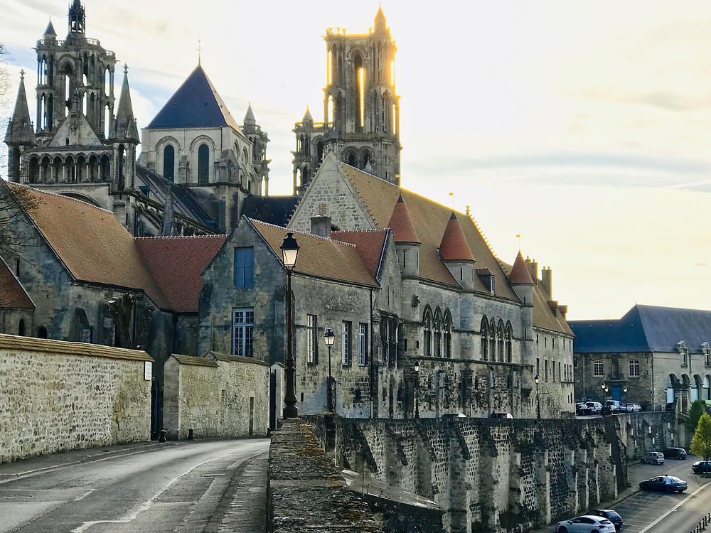 the medieval village of Laon France