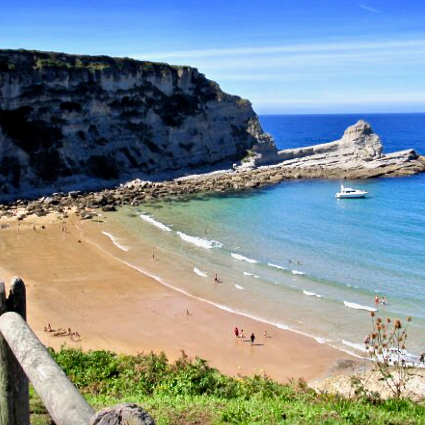 the beach in Laredo Spain