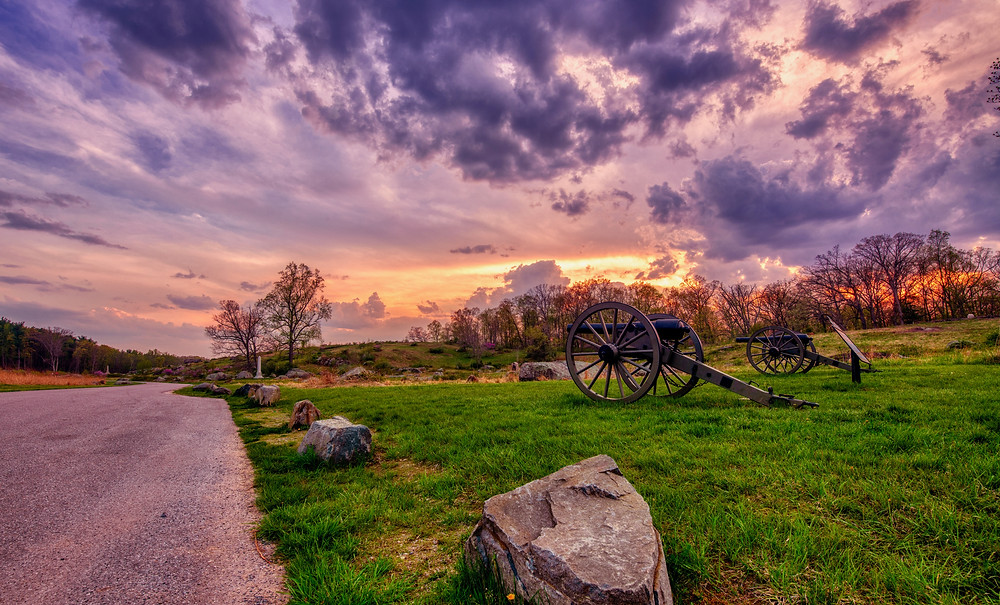 battlefield in Gettysburg Pennsylvania, perfect town for history buffs