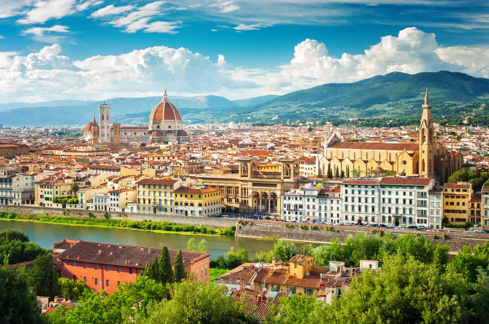 cityscape of Florence, with the iconic Duomo