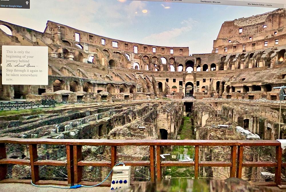 the hypogeum (basement) of he Colosseum on Secret Door