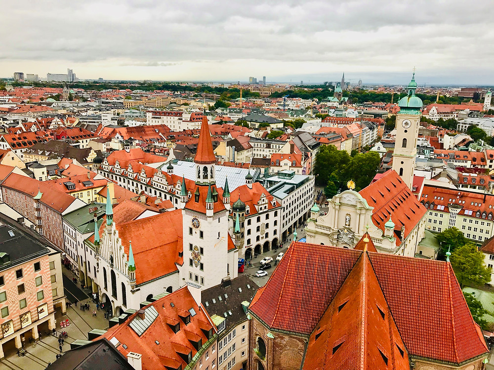 one of the many 360 views from St. Peter's Church in Munich
