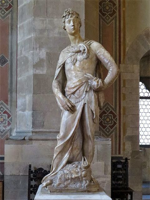 Donatello's Marble David, an early sculpture